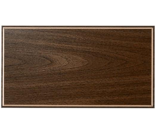 7.5x14 Blank Plaque Board Walnut with Gold Border - 7.5x14 Walnut with Gold Border